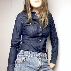 LEVI's Tailored Fit Denim Button Down Shirt